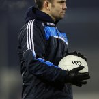 New faces show up in backroom teams. Here former world champion boxer Bernard Dunne dons the Dubs gear after being named their 'sports performance and lifestyle coach'.