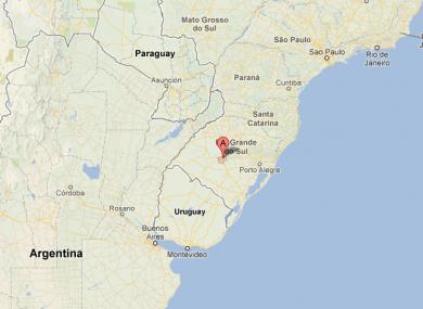 Santa Maria in Rio Grande do Sul is in the south of Brazil