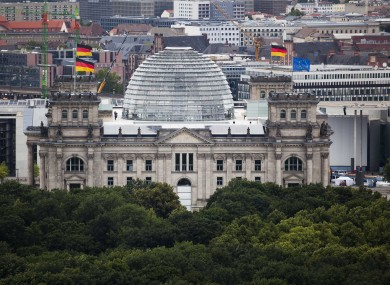 The Reichstag, the seat of the German parliament - which has important powers over German funding for other countries.