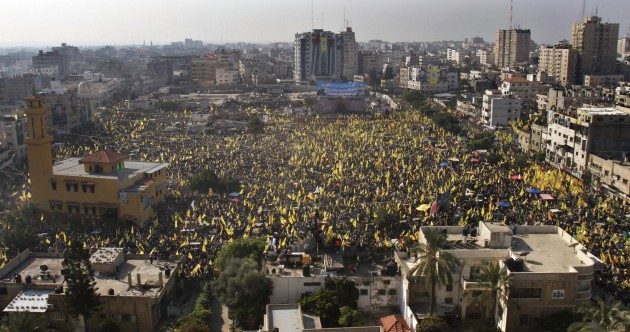 PHOTOS: Hamas allows huge Fatah rally in Gaza – the first since 2007