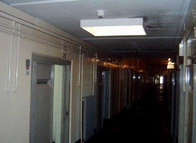 A corridor inside the H Blocks of HM Prison Maze, where Republican Hunger Strikers were housed in 1981.