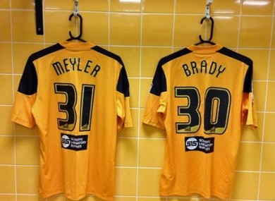 The pair's new shirts at the KC Stadium.