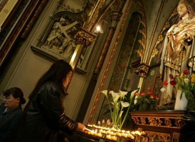 Worshippers at a Roman Catholic church in Amsterdam, Netherlands.