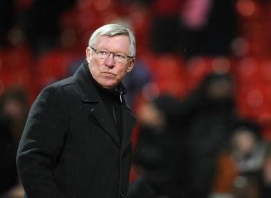Alex Ferguson: outburst.