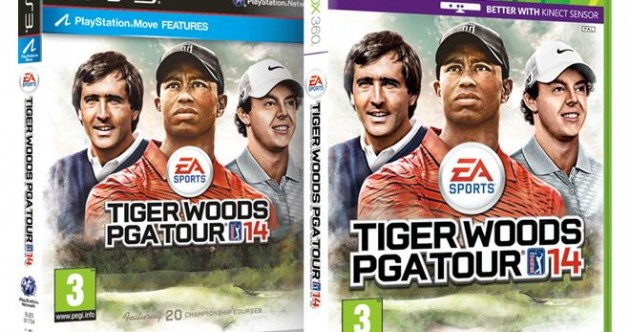 Three's company: Rory, Seve join Tiger on the cover of his latest game