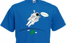 Commander Hadfield loves Ireland and we've got the t-shirt to prove it