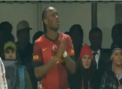 Drogba coming on last night.