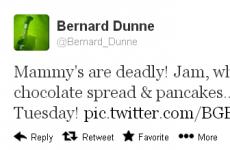 Tweet Sweeper: Bernard Dunne is a big mammy's boy