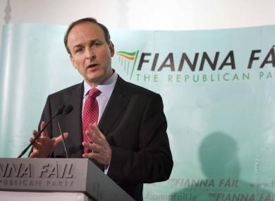 Fianna Fáil leader, Micheál Martin (file photo)