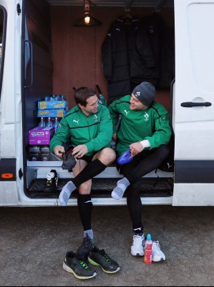 Isaac Boss and Ian Madigan swap boot-room tales.