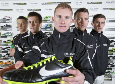 Ciaran Kilkenny at yesterday's launch of gaelicboots.com
