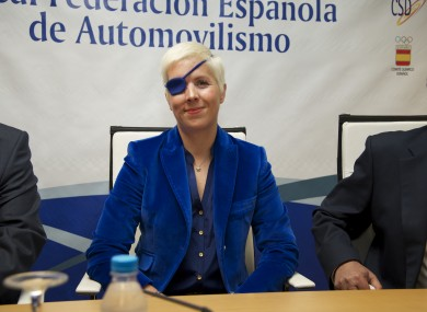 File photo of Maria de Villota in October, her first public appearance since the accident.