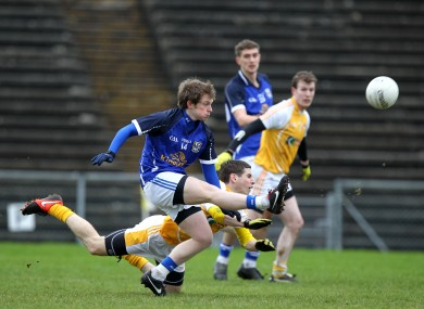 Martin Dunne in action for Cavan at Casement Park.