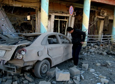 Image of a previous, 16 January, attack in Kirkuk.