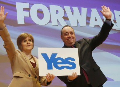 Scottish Deputy First Minister Nicola Sturgeon and First Minister Alex Salmond.