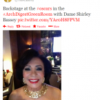 The Academy account was full of great snaps backstage but this one of Dame Shirley Bassey is surely the most glamourous.