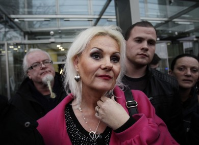 Fiona Doyle speaking to the media outside the Central Criminal Court in Dublin after her father was sent to prison.