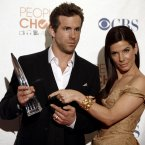 SANDRA BULLOCK AND RYAN REYNOLDS:  Rumours flew when these two were at each others' side in the aftermaths of their respective divorces, but they insist they're always been just good friends.  We love the idea of them LOLing it up together. AP Photo/Matt Sayles