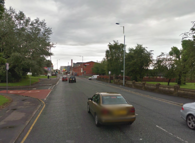 A file photo of Rochdale Road in Harpurhey, Lancashire, where the two police officers were injured.