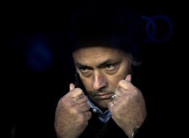 Real Madrid's coach Jose Mourinho.