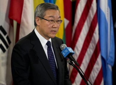 South Korea's Foreign Minister Kim Sung-hwan