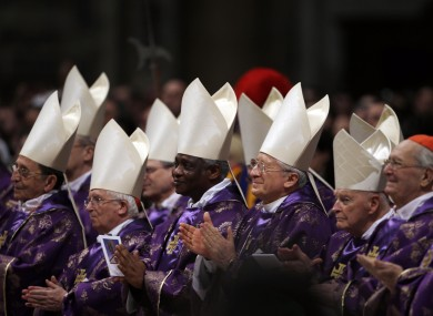 Cardinals - from whose ranks the next pope will be chosen - at the Vatican.