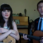 ZOOEY DESCHANEL AND JOSEPH GORDON-LEVITT:  Zooey and Joseph met in the Summer of 2000 on the set of a movie called Manic and have been mates ever since.  If you haven't seen them singing together you should YouTube it right now. YouTube/Hellogiggles