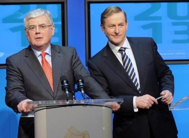 Tánaiste Eamon Gilmore and Taoiseach Enda Kenny