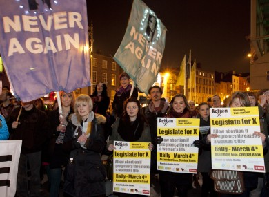 Participants at tonight's rally
