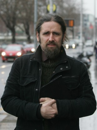TD Luke Ming Flanagan leaving the Supreme Court in Dublin today.