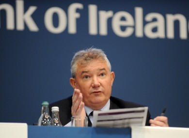 Bank of Ireland Group Chief Executive, Richie Boucher (file photo)