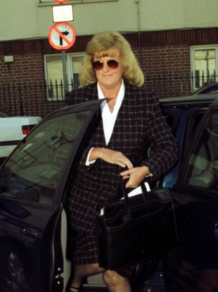 Catherine Nevin attends the Four Courts during her trial in 2000 for the murder of her husband Tom.