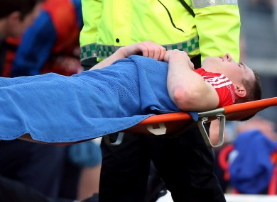 Colm O'Neill: has damaged his cruciate twice in the past.