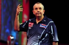 Did somebody try to spit on Phil Taylor at the darts last night?