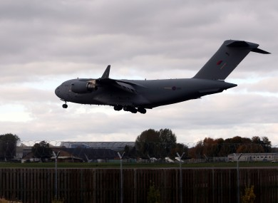 File photo of RAF plane.