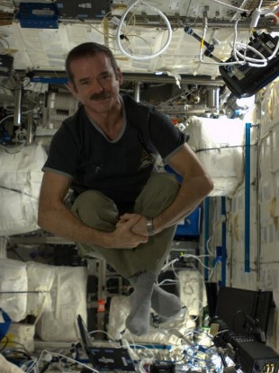 Commander Chris Hadfield on board the International Space Station