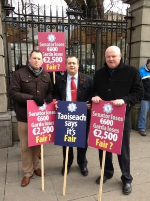 GRA vice president Dermot O'Brien, GRA President John Parker (middle) and Jim Carmody of the Limerick Division