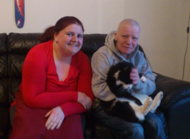 Tara O'Dea (on left), Carmel McAnaspie, and 'Lenny' the cat have been in independent living since last October.