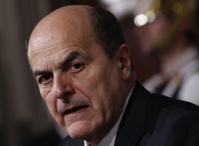 emocratic Party leader Pier Luigi Bersani