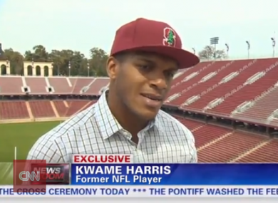 Harris spoke openly to CNN about what it's like being closeted in the NFL.