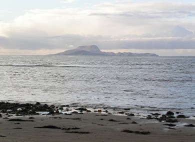 A view of Clare Island from Clew Bay