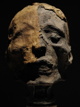 The head of an Ancient Egyptian Mummy in Philadelphia.