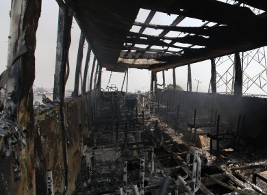 File photo of burned out bus in Nigeria (not of scene).