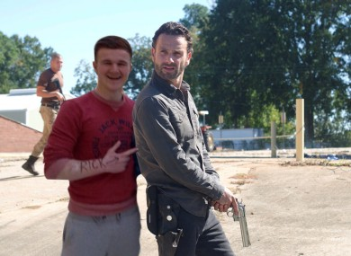 This image, featuring the character Rick from the Walking Dead, is one of those created by Reddit users in a photo battle currently on the site.