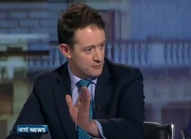 Seán Sherlock speaking to RTÉ today.