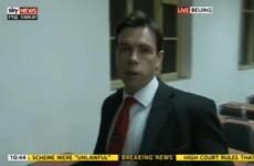 Sky News reporter broadcasts arrest live on TV