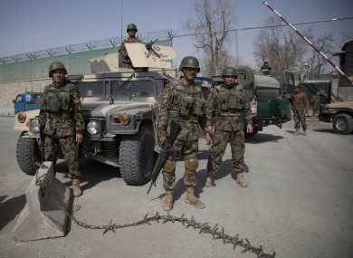 File photo of Afghan soldiers.