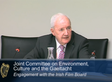 Bill O'Herlihy appearing at the committee today.