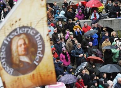 Hallelujah Rings Through Capital's Cultural Quarter for Handel's Day 2013.