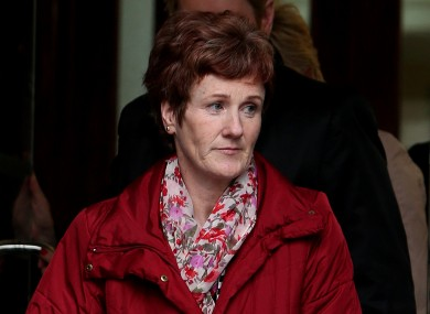 Midwife Miriam Dunleavy leaving the inquest into the death of Savita Halappanavar at Galway Coroners Court.